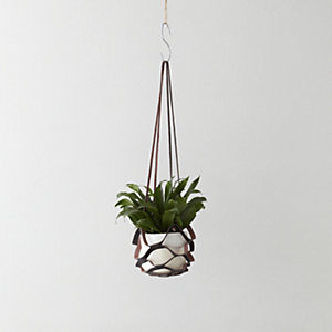Leather Kirigami Hanging Planter