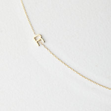 Asymmetrical Mini Letter Necklace - R