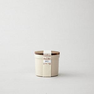 SMALL STONEWARE CANDLE - BASIL