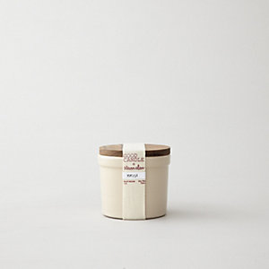 SMALL STONEWARE CANDLE - MIMOSA