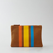 3 STRIPE FLAT CLUTCH