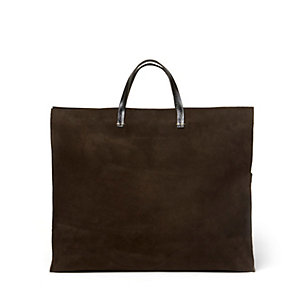 Suede Tote w/ Optional Strap