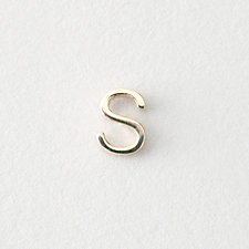 MINI LETTER STUD EARRING - S