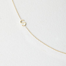 Asymmetrical Mini Letter Necklace - S