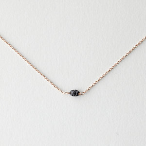ROUGH BLACK DIAMOND NECKLACE