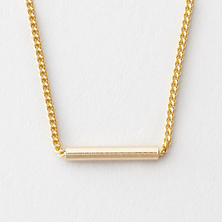 GOLD CYLINDER NECKLACE