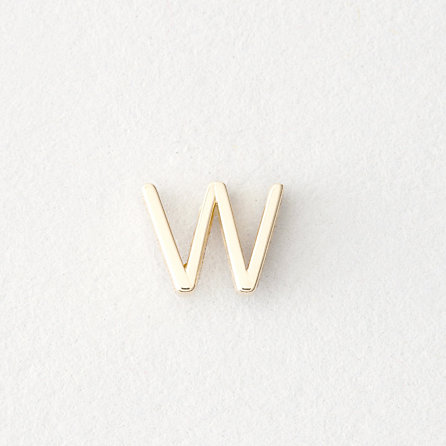 MINI LETTER STUD EARRING - W