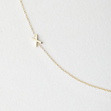 ASYMMETRICAL MINI LETTER NECKLACE - X