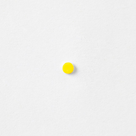 ENAMEL YELLOW DOT STUD