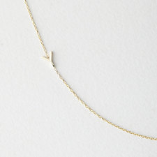 Asymmetrical Mini Letter Necklace - Y