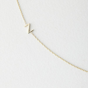 Asymmetrical Mini Letter Necklace - Z