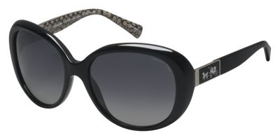 Coach HC8120 57 Black Prescription Sunglasses