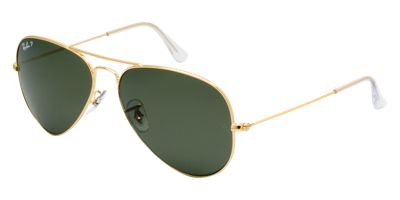 Ray-Ban Gold Shiny Original Aviator RB3025 Sunglasses
