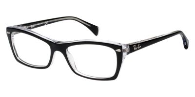 Ray-Ban Black Clear RX5255