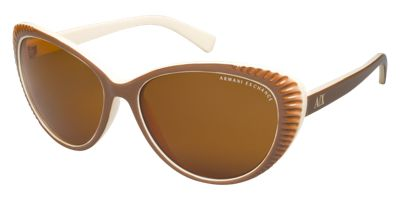 Armani Exchange AX4013 Brown Cat Eye Sunglasses