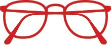 Mossimo M12061 Red Clear Eyeglasses