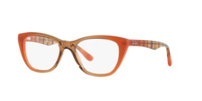 Ray-Ban Orange Brown RX5286 Womens Prescription Eyeglasses