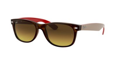 Ray-Ban RB2132 55 NEW WAYFARER Red/Beige Prescription Sunglasses