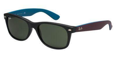 Ray-Ban RB2132 55 NEW WAYFARER Green/Black Prescription Sunglasses