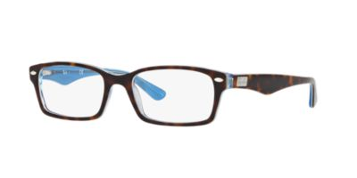 do ray ban prescription sunglasses have logo  ray ban rx5206 brown blue eyeglasses