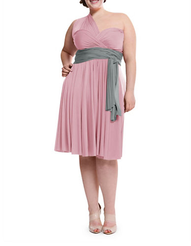 Henkaa Plus Size Sakura Midi Convertible Dress-BLUSH PINK-One Size