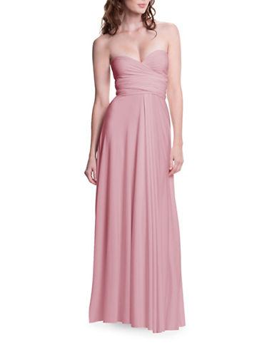 Henkaa One Size Sakura Maxi Convertible Dress-BLUSH PINK-One Size