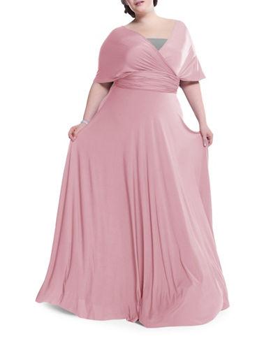 Henkaa Plus Size Sakura Maxi Convertible Dress-BLUSH PINK-One Size