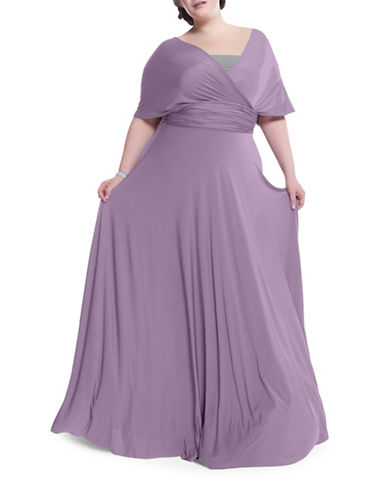 Henkaa Plus Size Sakura Maxi Convertible Dress-DUSTY PURPLE-One Size
