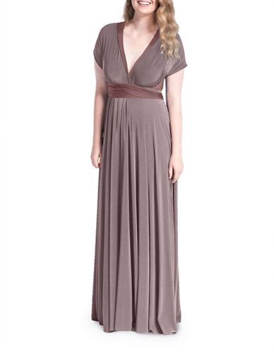 Henkaa Sakura Reversible Convertible Maxi Dress-TENDER TAUPE/MASALA-M/L