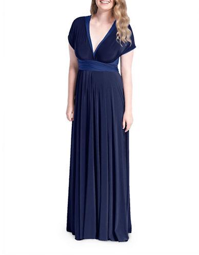 Henkaa Sakura Reversible Convertible Maxi Dress-ROYAL BLUE/ DARK NAVY-M/L