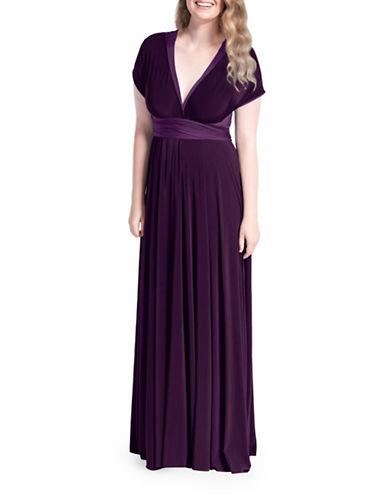 Henkaa Sakura Reversible Convertible Maxi Dress-PLUM PURPLE/ EGGPLANT-XS/S