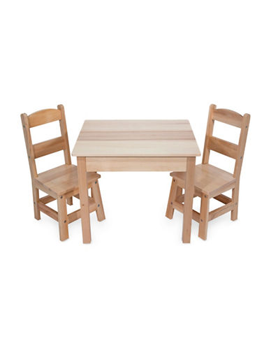Melissa & Doug Wooden Table and Chairs Set-MULTI-One Size