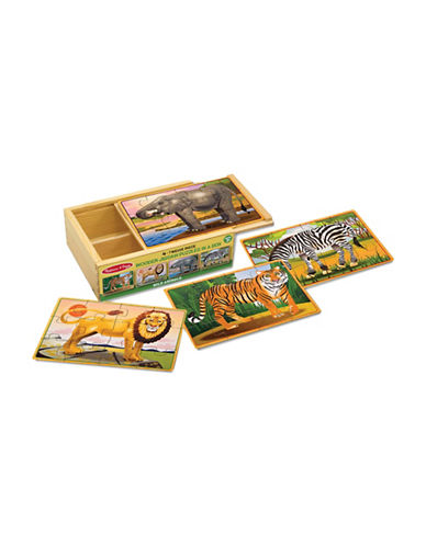 Melissa & Doug Wild Animals Puzzle in A Box-MULTI-One Size