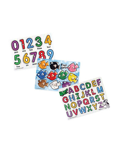 Melissa & Doug Classic Peg Puzzle Bundle-MULTI-One Size