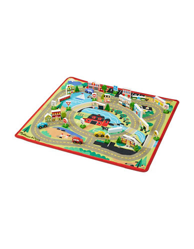 Melissa & Doug Wooden Town Play Set-MULTI-One Size