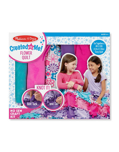 Melissa & Doug Created by Me Flower Fleece Quilt Craft Kit-MULTI-One Size