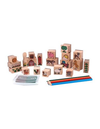 Melissa & Doug Stamp A Scene Farm Stamp Set-MULTI-One Size 88604797_MULTI_One Size