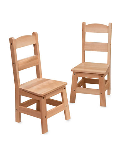 Melissa & Doug Two-Piece Wooden Chair Pair-MULTI-One Size