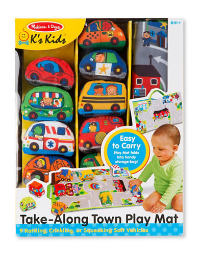 Melissa & Doug Take-Along Town Play Mat-MULTI-One Size