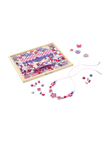 Melissa & Doug 352-Piece Deluxe Collection Wooden Bead Set-MULTI-One Size