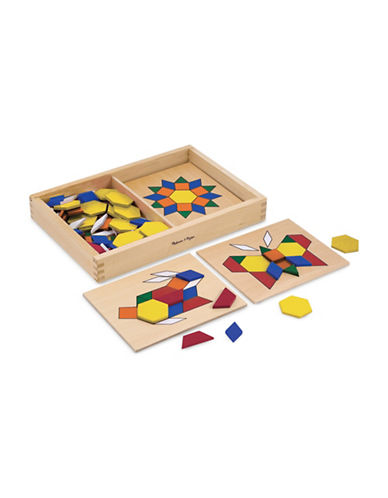 Melissa & Doug Pattern Blocks and Boards-MULTI-One Size