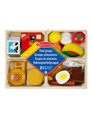 Melissa & Doug 21-Piece Food Groups Play Set-MULTI-One Size