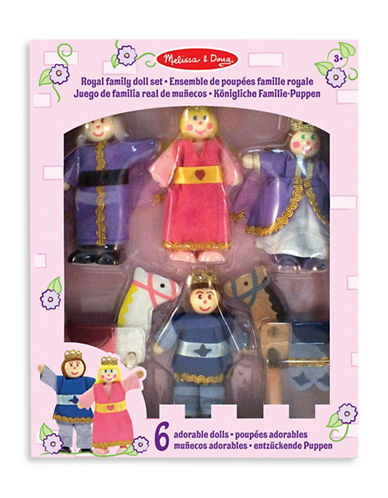 Melissa & Doug Royal Family Wooden Doll Set-MULTI-One Size
