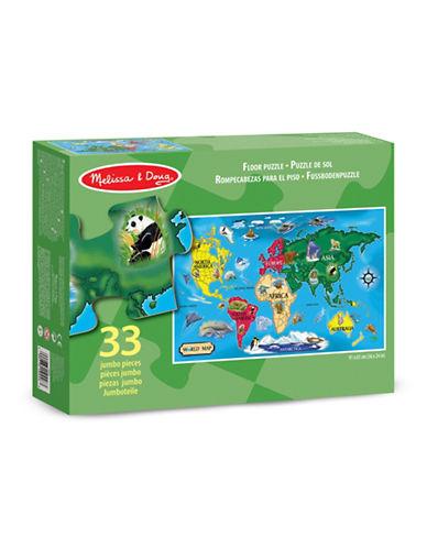 Melissa & Doug World Map 33-Piece Floor Puzzle-MULTI-One Size