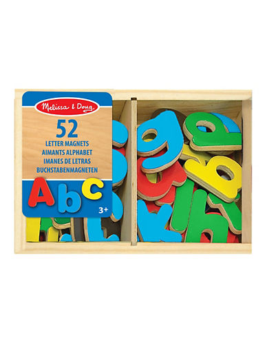 Melissa & Doug 52-Piece Magnetic Wooden Letters Play Set-MULTI-One Size
