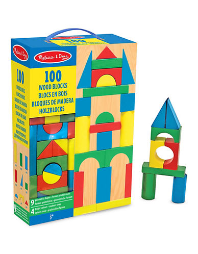 Melissa & Doug 100 Wood Blocks Play Set-MULTI-One Size