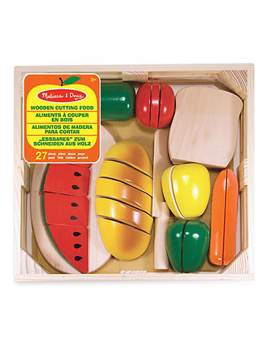 Melissa & Doug 27-Piece Wooden Cutting Food Play Suit-MULTI-One Size