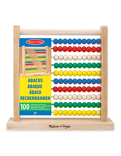 Melissa & Doug Multicolour Wooden Abacus-MULTI-One Size