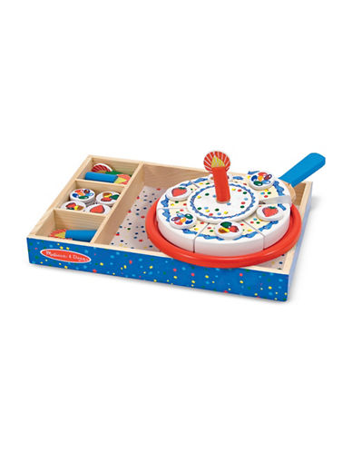 Melissa & Doug 34-Piece Wooden Birthday Cake Play Set-MULTI-One Size