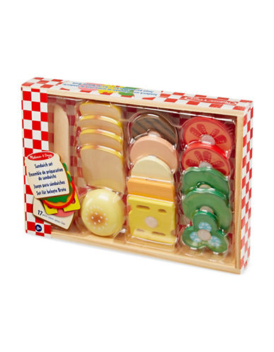 Melissa & Doug Wooden Sandwich Making Set-MULTI-One Size